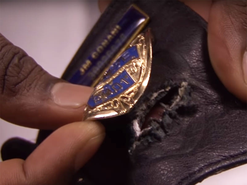 This police badge saved this officers life.
