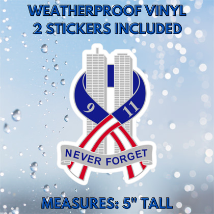 9-11 Never Forget Sticker 2 Pack