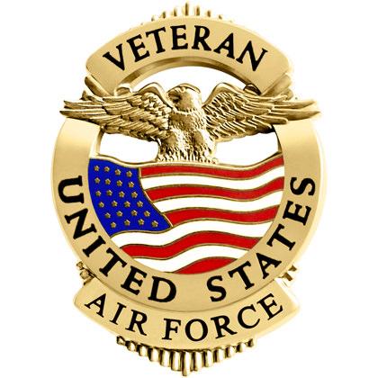 Air Force Veteran Pin Badge