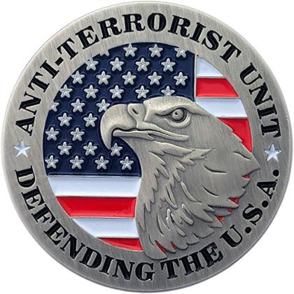 Anti-Terrorist Unit - Defending The USA Pin