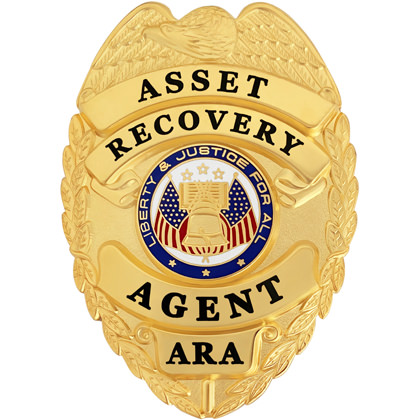 Asset Recovery Agent Badge