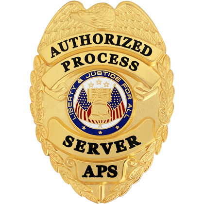 Authorized Process Server Badge