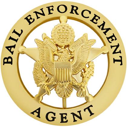 Bail Enforcement Agent Round Badge