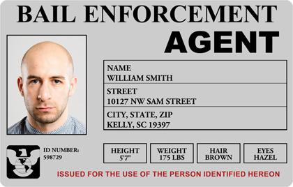 Bail Enforcement Agent Photo ID Card