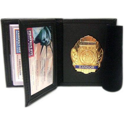 Bi-Fold Badge Wallet With Single ID Window & 5 CC Slots