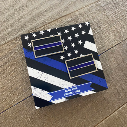 Blue Line Pin - 2 Pack