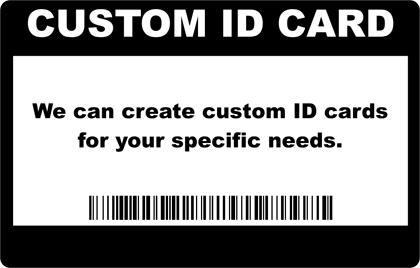 Custom Photo ID Card