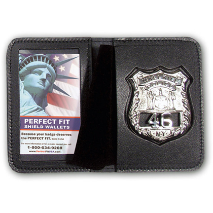 Duty Leather Book Style Single ID Badge Case