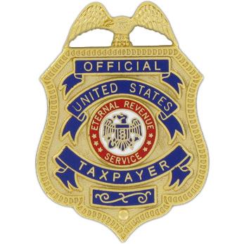 Eternal Revenue Taxpayer Badge & Case