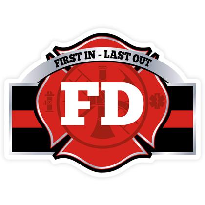 Fire Department Red Line Sticker