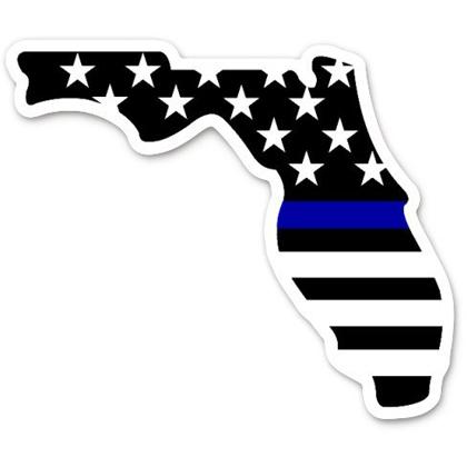 Florida Blue Line Flag Sticker