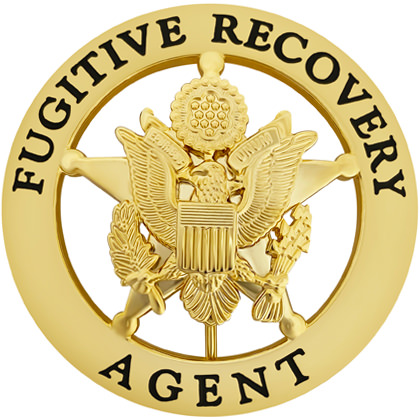 Fugitive Recovery Agent Round Badge