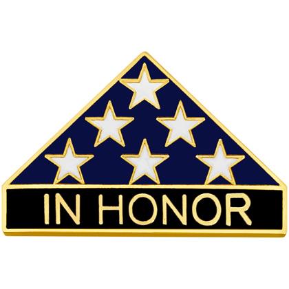 In Honor Folded Flag Lapel Pin