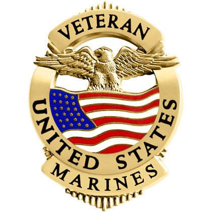 Marines Veteran Pin Badge