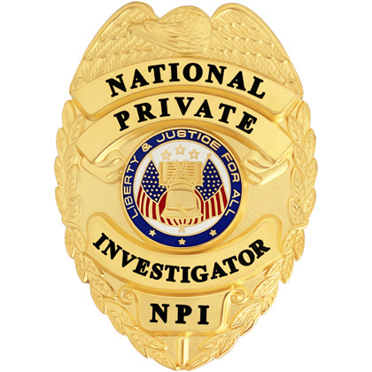National Private Investigator Badge