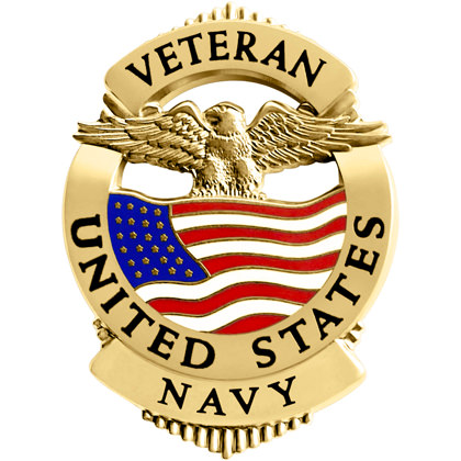 Navy Veteran Pin Badge