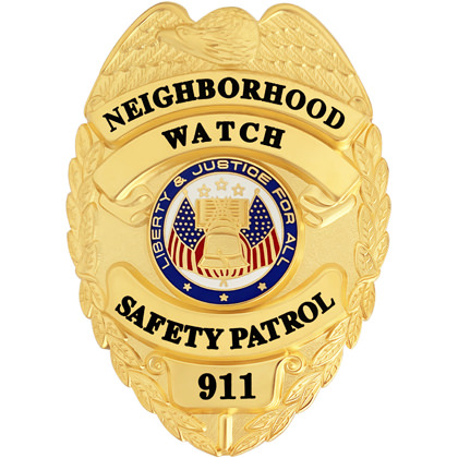 Neighborhood Watch Safety Patrol Badge