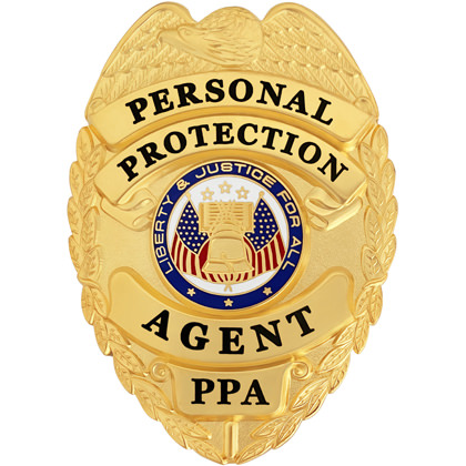 Personal Protection Agent Badge