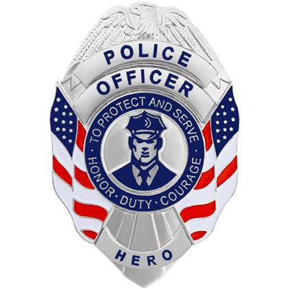 Police Officer Hero Mini Badge