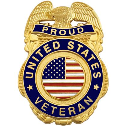 Proud United States Veteran Pin Badge