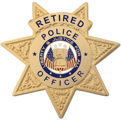 Retired Police Officer Mini Badge