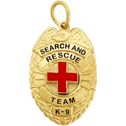 Search And Rescue Team K-9 Badge