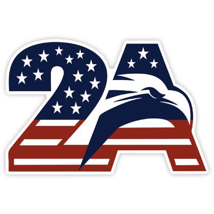 Second Amendment 2A Eagle Sticker