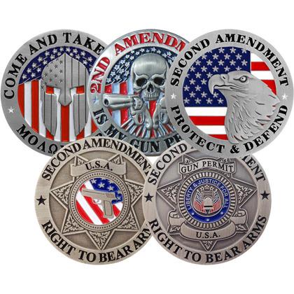 Second Amendment 5 Pin Collector's Set