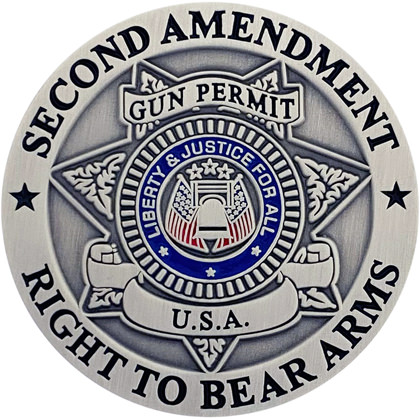 Second Amendment Right To Bear Arms Pin - Antique Silver