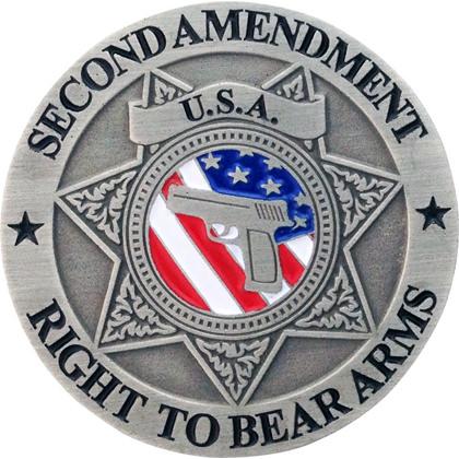 Second Amendment Right To Bear Arms Gun Pin