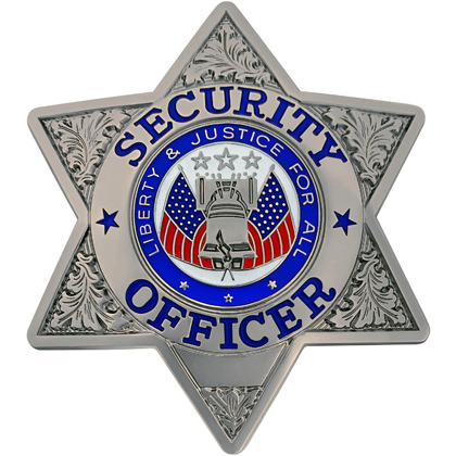 Security Officer Badge - Gold