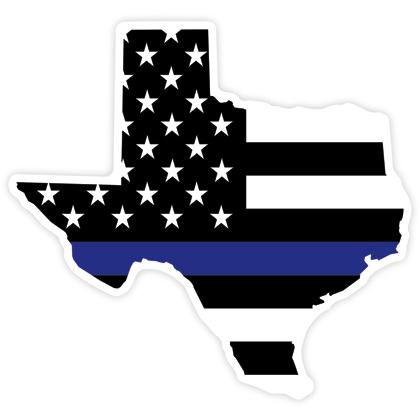 Texas Blue Line Flag Sticker