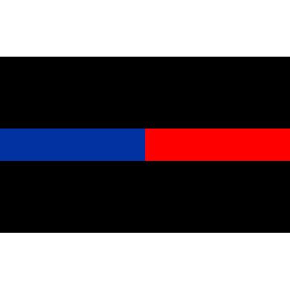 Thin Blue & Red Line Sticker