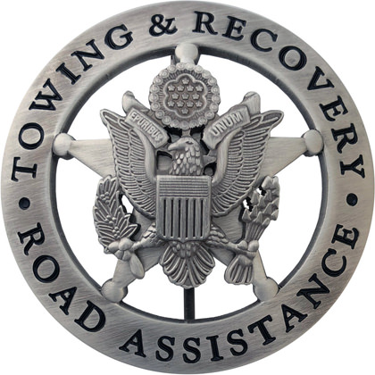 Towing Amp Recovery Road Assistance Badge Agent Gear Usa