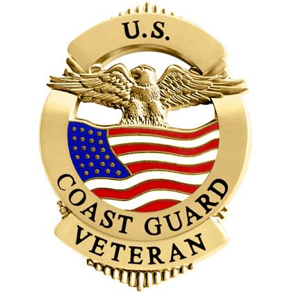 U.S. Coast Guard Veteran Pin Badge