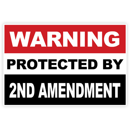 Warning Protected By 2ND Amendment Sticker - 2 Pack