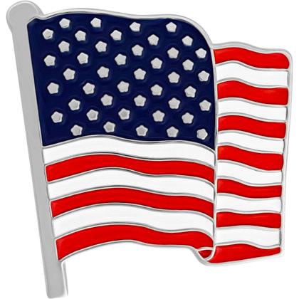Wavy American Flag Lapel Pin