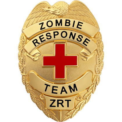 Zombie Response Team Badge - Gold