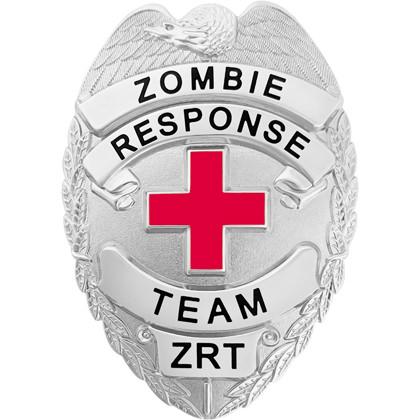 Zombie Response Team Badge - Silver